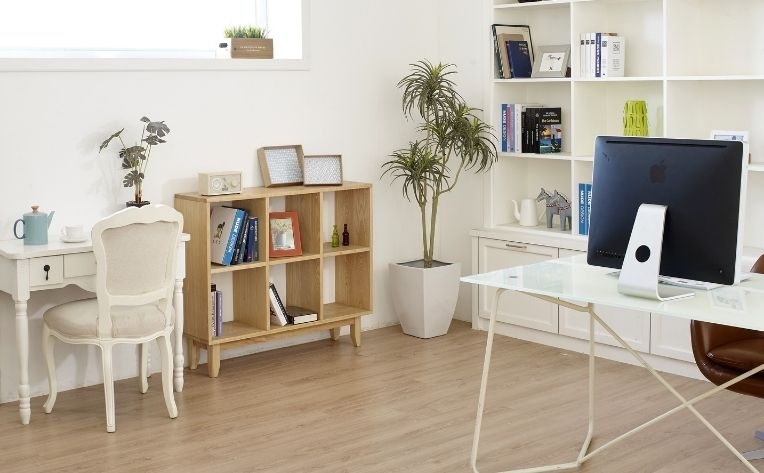 Office Homeschool Room Luxury Vinyl Flooring